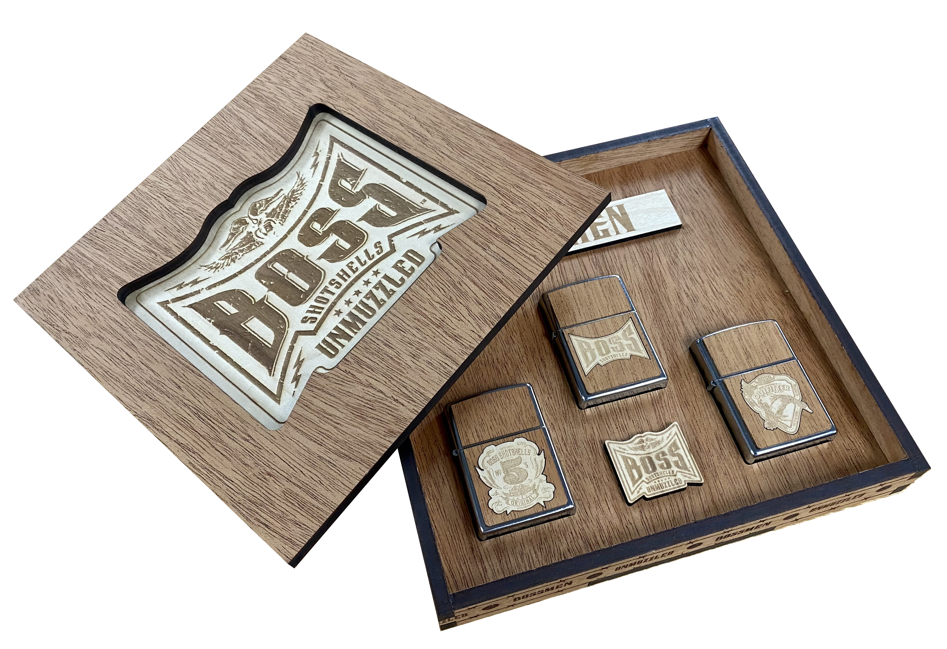 Boss Ammo Display Box in Walnut (Lighters) copy