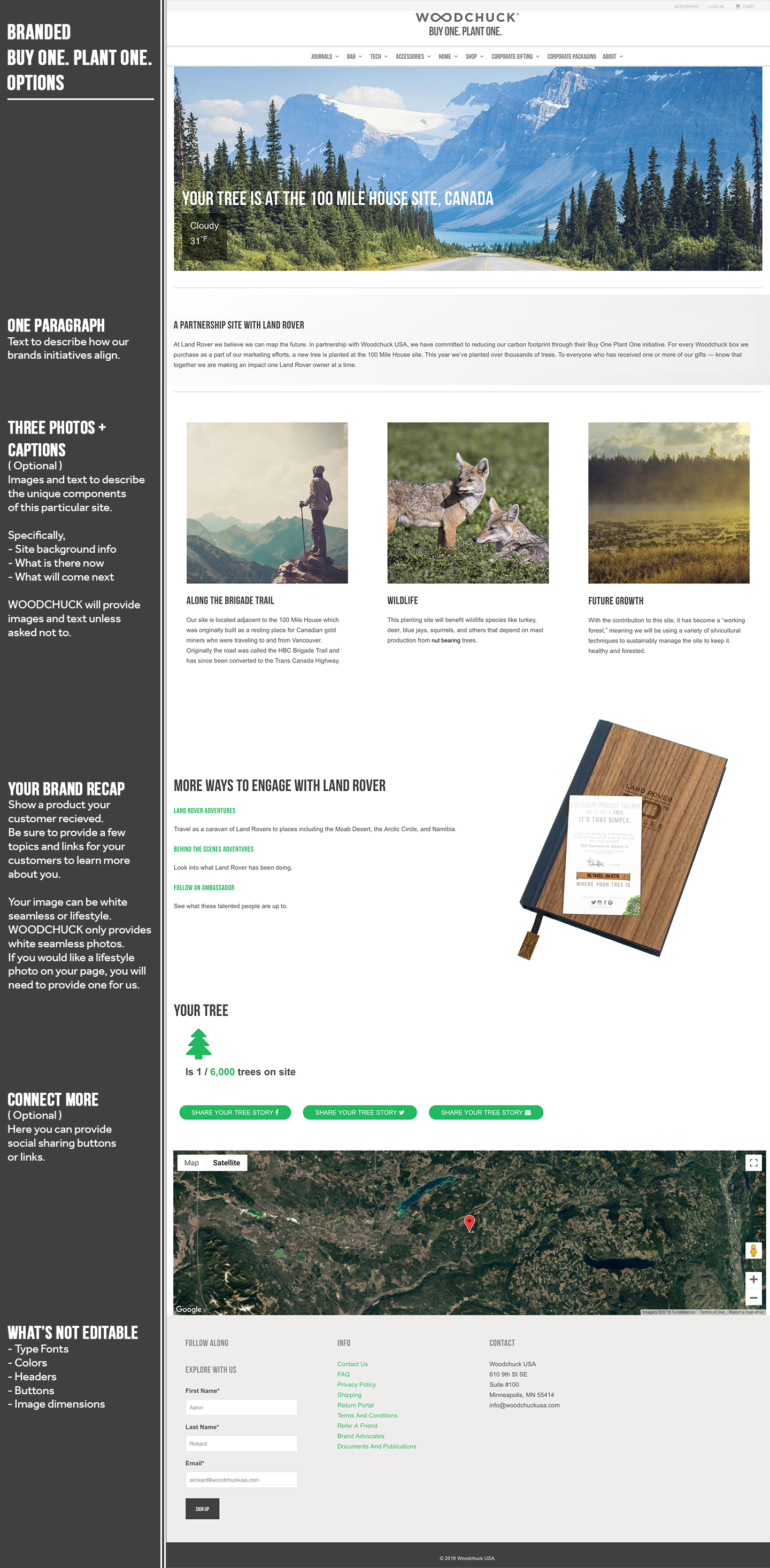 Branded Buy One Plant One Tree Page Template